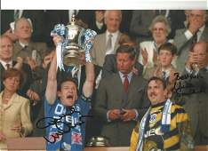 Dave Watson and Neville Southall Everton Signed 12 x 8