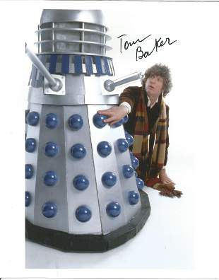 Dr Who Tom Baker signed 10x8 colour photo pictured in