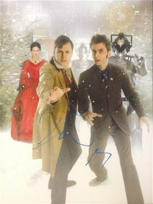 Dr Who David Morrisey signed 16x12 colour photo. In