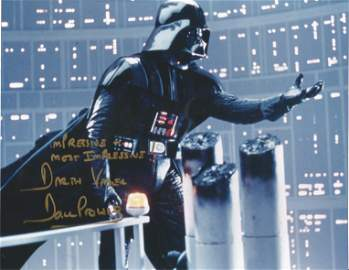 Star Wars Dave Prowse signed 10x8 colour photo pictured