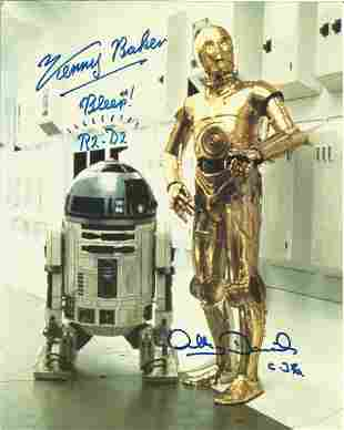 Star Wars Kenny Baker and Anthony Daniels signed 10x8