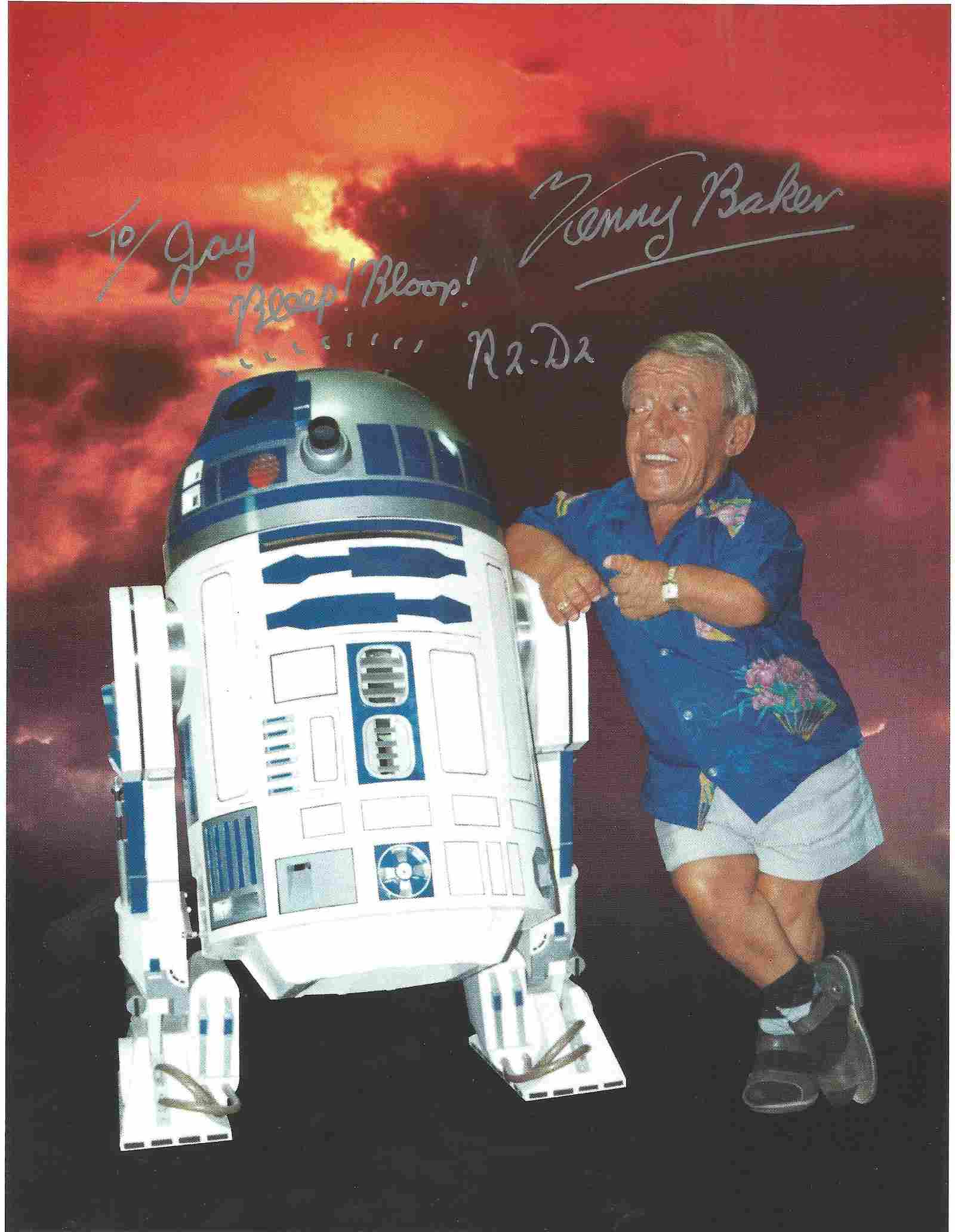 Star Wars Kenny Baker signed 10x8 colour photo