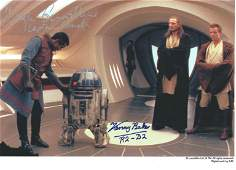 Star Wars Hugh Quashie and Kenny Baker signed 12x8
