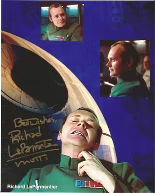 Star Wars Richard LeParmentier signed 10x8 colour photo