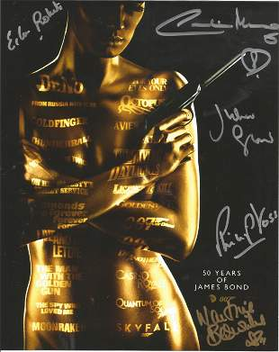 James Bond 50 years multi signed 10x8 colour photo