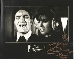 James Bond Caroline Munro signed 10x8 colour photo