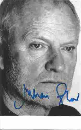 James Bond Juilian Glover signed 6x4 black and white