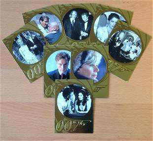 James Bond collection 9 007 Gold Trading Cards
