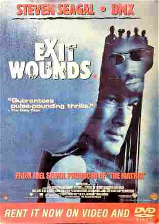 Exit Wounds 2001 movie poster starring Steven Seagal
