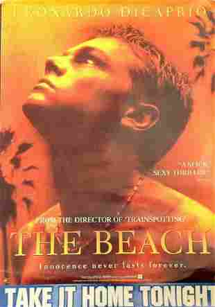 The Beach 2000 movie poster starring Leonardo Di Caprio