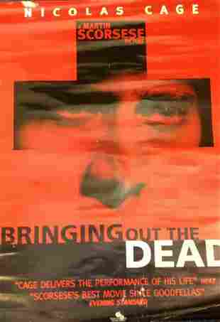 Bringing out the Dead 1999 movie poster starring