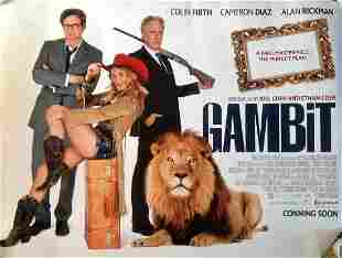 Gambit 40x30 movie poster from the 2012 film directed