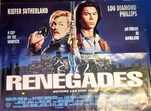Renegade 30x40 approx rolled movie poster from the 1989
