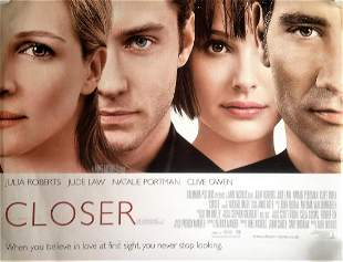 Closer 40x30 movie poster from the 2004 American