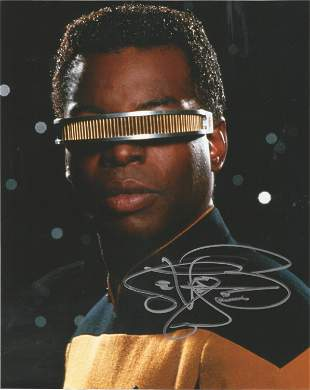 Star Trek Levar Burton signed 10x8 colour photo