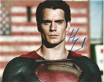 Henry Cavill signed 10x8 colour photo pictured in his