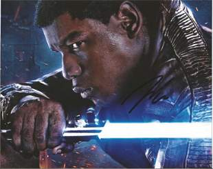 Star Wars John Boyega signed 10x8 colour photo pictured