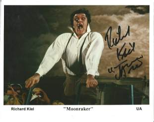 James Bond Richard Kiel signed 10x8 colour photo