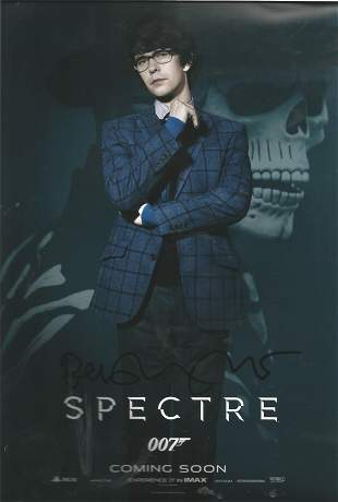 James Bond Ben Wishaw signed 12x8 colour Spectre photo