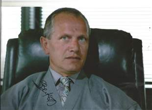 James Bond Steven Berkoff signed 12x8 colour photo