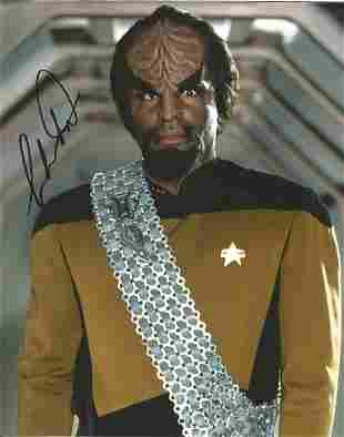 Star Trek Michael Dorn signed 10x8 colour photo