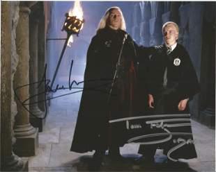 Harry Potter Jason Issacs and Tom Felton signed 10x8