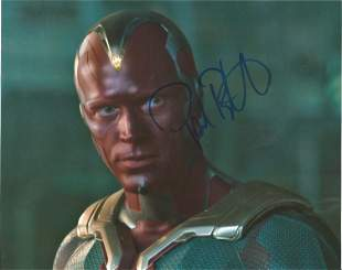 Paul Bettany signed 10x8 colour photo pictured in his