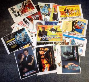 James Bond Collection 30 mint post cards each picturing