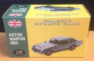 Atlas 1. 43 scale die cast model Aston Martin DB5 in