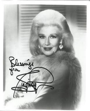 Ginger Rogers signed 10 x 8 inch b/w portrait photo.