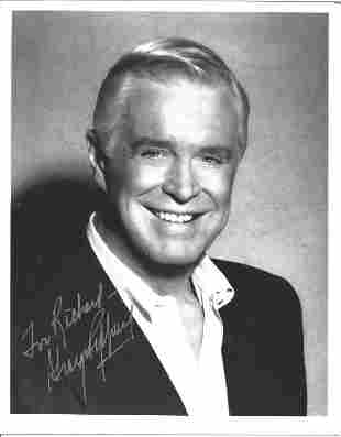 George Peppard signed 10 x 8 inch b/w early portrait