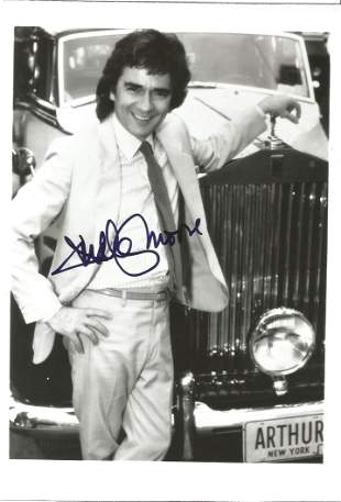 Dudley Moore as Arthur signed 7 x 5 inch b/w photo.