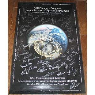 Astronaut & Cosmonaut Multi-signed 2009 ASE Poster. An