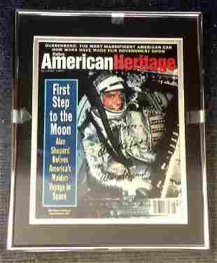 Alan Shepard Signed American Heritage Magazine. An Alan