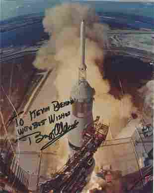 Apollo 11 Astronaut Buzz Aldrin Signed Glossy Launch