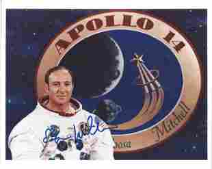 "Apollo 14 Astronaut Edgar Mitchell Signed 8"" x10"""