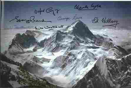 Mount Everest multiple signed 12 x 8 inch colour photo.
