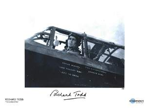 Richard Todd as Guy Gibson signed 16 x 12 print from