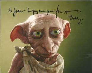Harry Potter Toby Stevens as Dobby signed 10 x 8 inch