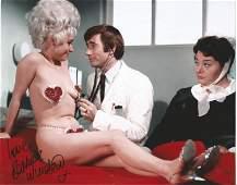 Carry on Nurse Barbara Windsor signed cheeky 10 x 8
