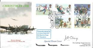 WW2 Dambuster Jim Clay DFC signed 1990 Christmas