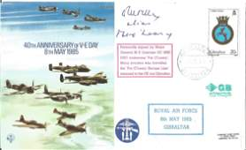 WW2 Pat O'Leary DSO signed 40th ann VE Day RAF flown