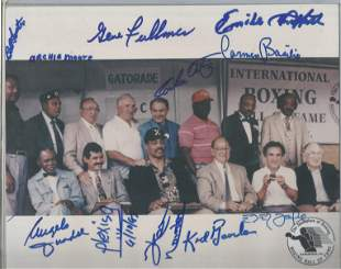 Boxing multiple signed 10 x 8 inch colour Hall of Fame
