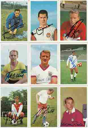 Autographed Lot Of Bergmann Trade Cards, 9 In Total