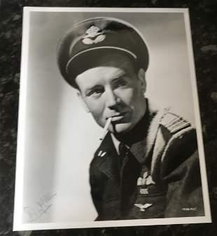 Sir John Mills RAF uniform signed 10 x 8 inch b/w