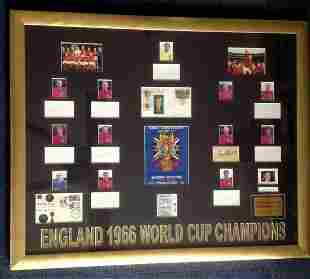 Football England 1966 World Cup Champions 110x90 framed