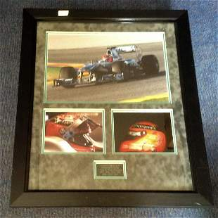 Motor Racing Michael Schumacher 29x25 mounted and