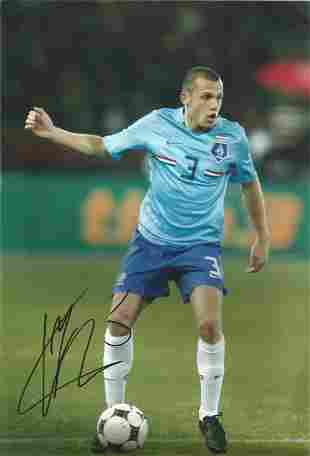 Football John Heitinga signed 12x8 colour photo
