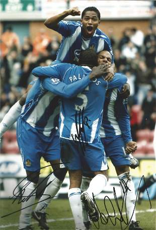 Football Wigan Athletic multi signed 12x8 colour photo