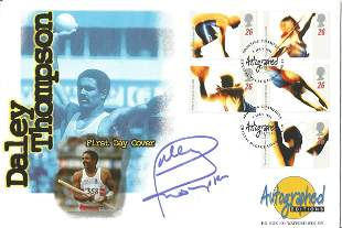 Olympics Daley Thompson signed Autograph editions FDC